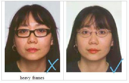 Glasses on a passport photo