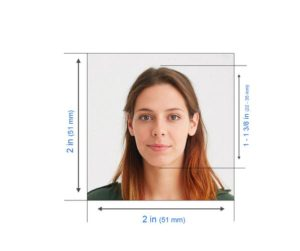 Passport photo size in India