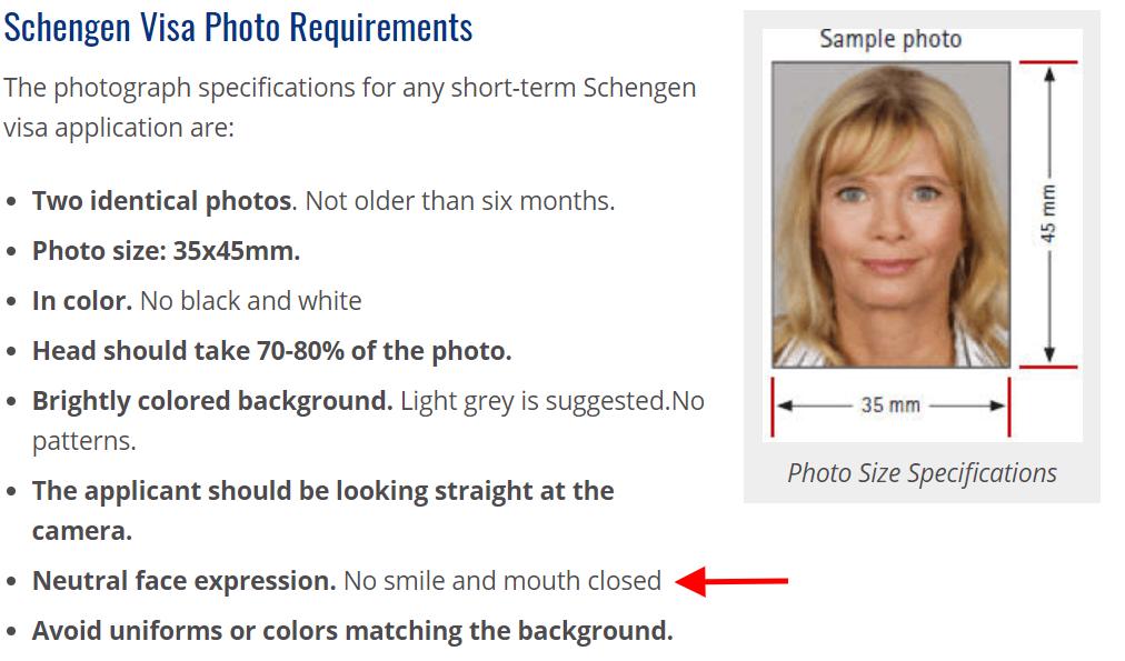 schengen visa photo guidelines