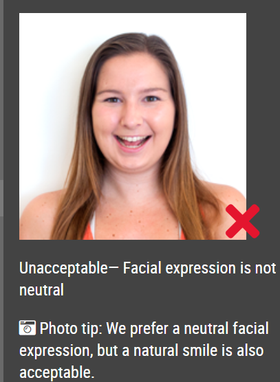 unnatural smile not aaccepted
