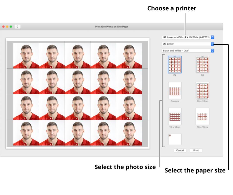 Printer settings for mac